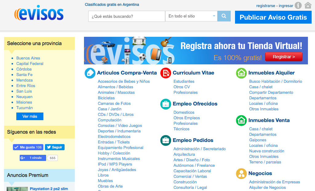 evisos-argentina-home-page